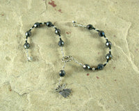 Anubis Travel Prayer Beads: Egyptian God of the Underworld and Afterlife, Guardian of the Dead - Hearthfire Handworks