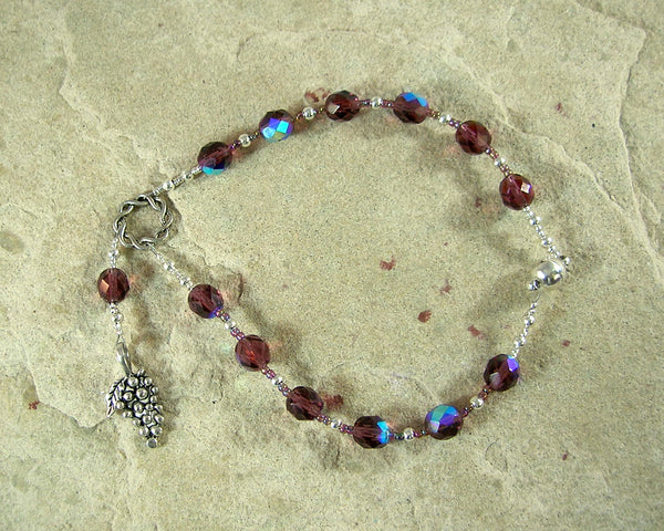 Dionysos (Dionysus) Travel Prayer Beads: Greek God of Wine, Theater, Ecstasy and the Mysteries - Hearthfire Handworks