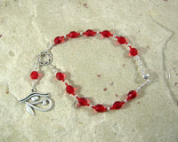 Eye of Horus/Eye of Ra Travel Prayer Beads, Egyptian Symbol of Protection - Hearthfire Handworks