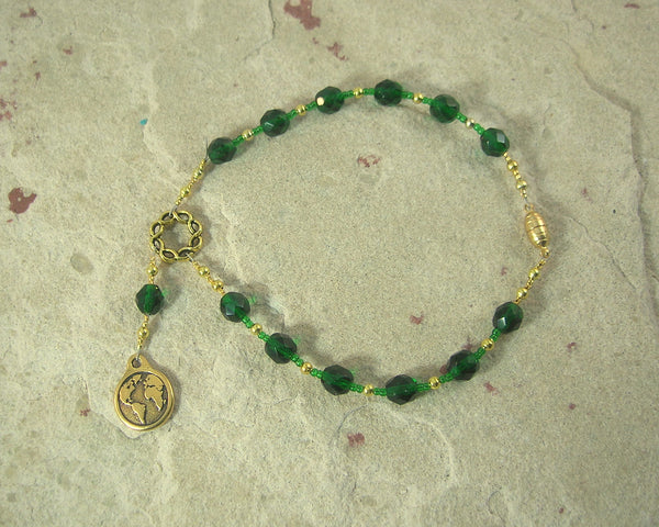 Gaia (Gaea) Travel Prayer Beads: Greek Goddess, Mother Earth, Mother of the Gods, Mother of All that Is