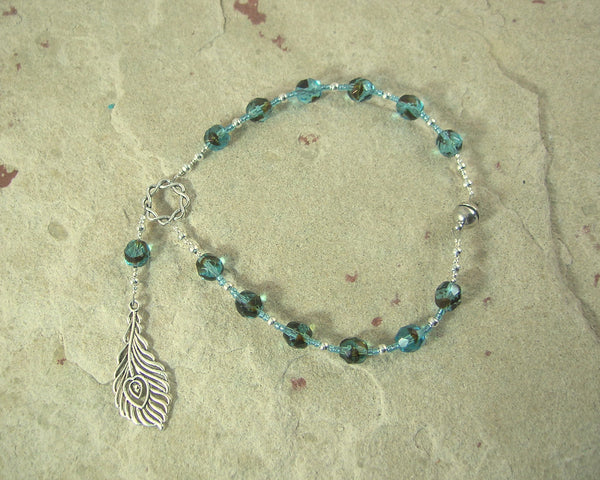 Hera Travel Prayer Beads: Greek Goddess of the Sky, Marriage, Queen of Olympus