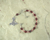 Thor Travel Prayer Beads: Norse God of Thunder, Protector of Humanity