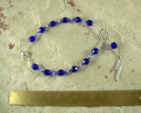Zeus Travel Prayer Beads: Greek God of the Sky and Storm, Thunder and Lightning, Justice - Hearthfire Handworks