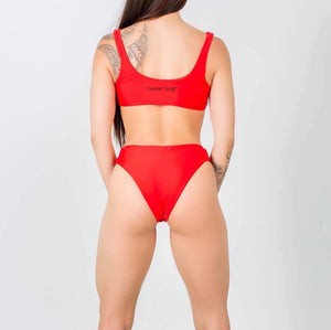 High Waisted Red Bikini