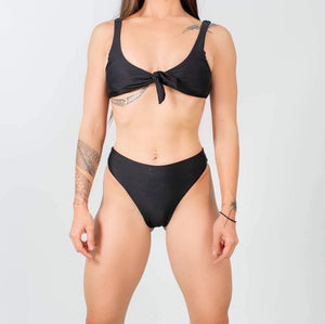 High Waisted Black Bikini