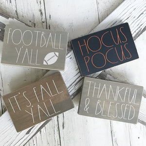Fall Mini Signs