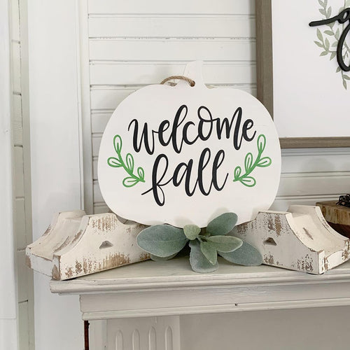 Double Sided Pumpkin Cut out Sign