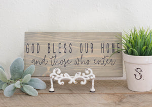 God Bless Our Home And Those Who Enter, Welcome Sign, Entryway Decor, Farmhouse Sign