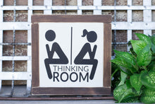 Thinking Room Bathroom Sign, Bathroom Decor, Restroom Sign