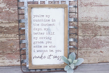 You Make It Easy Lyrics Sign, Country Song Lyrics