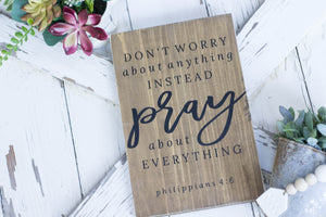 Don't Worry About Anything Philippians 4:6
