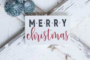 Merry Christmas Mini Sign