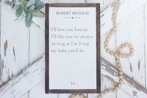 I'll Love You Forever Page Book Sign