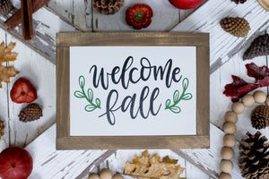 Welcome Fall Farmhouse Sign
