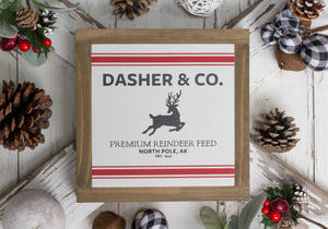 Dasher & Co Reindeer Sign