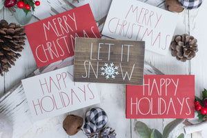 Christmas Mini Signs - Pick your Style