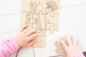 DIY Wooden Puzzle, Kids Craft
