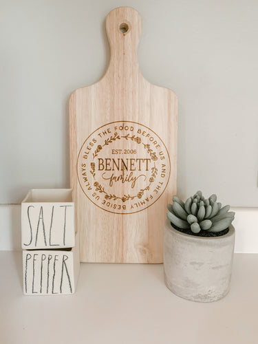 Laser Engraved Cutting Board, Personalized Cutting Board