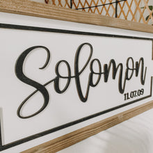 Personalized Last Name 3D Framed Sign