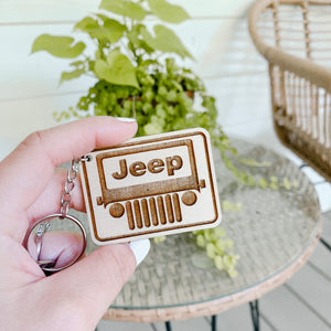 Laser Engraved Jeep Lovers Keychain