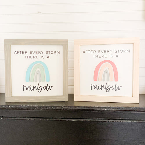 After Every Storm There is a Rainbow 3D Nursery Sign