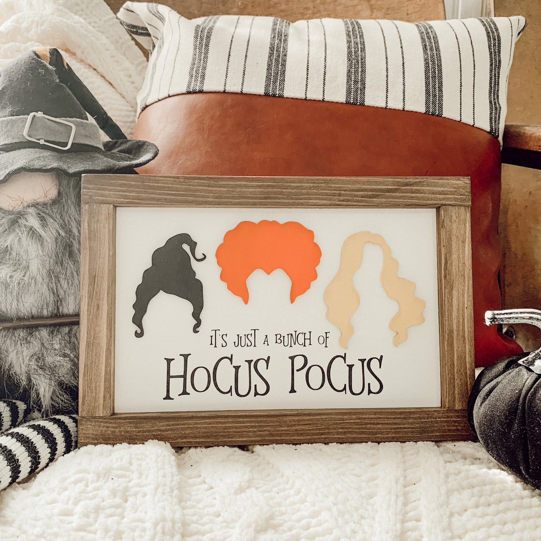 3D It's Just a Bunch of Hocus Pocus Framed Sign