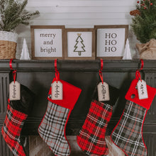Personalized Stocking Tags, Christmas Stockings