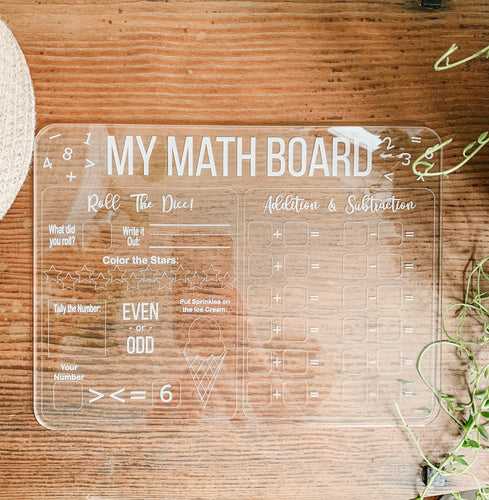 My Math Board Educational Dry Erase Boards