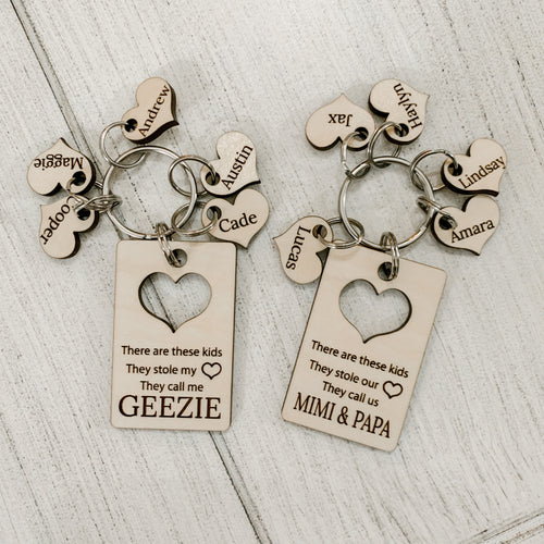 Personalized Parent/Grandparent Keychain