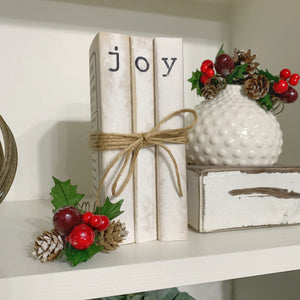 Farmhouse Joy Stacked Book