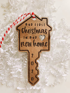 Our First Christmas in Our New Home, New House Ornament, Couples Christmas Ornaments, 2020 Christmas Ornaments, Personalized Ornament