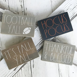 Fall & Halloween Mini Signs