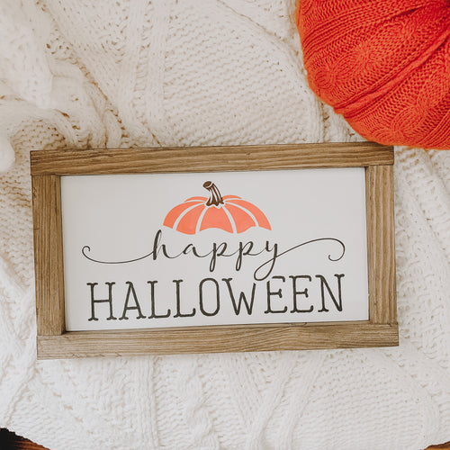 Happy Halloween Farmhouse Framed Sign
