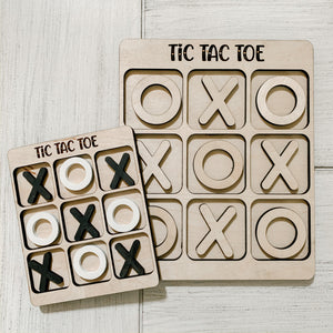Laser Engraved Tic Tac Toe board game