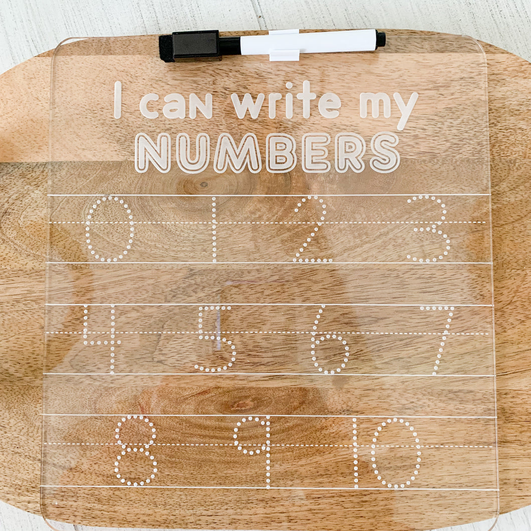 I Can Write My Numbers Dry Erase Board
