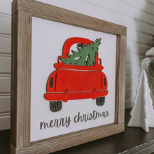 Merry Christmas Red Truck Christmas Sign