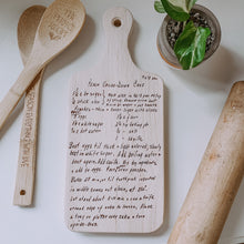 Family Recipe Laser Engraved Cutting Board, Farmhouse Decor, Personalized Recipe Engraved Cutting Board