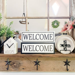 Welcome, Farmhouse Coffee 3D Small Shelf Sign- Pick Your Style