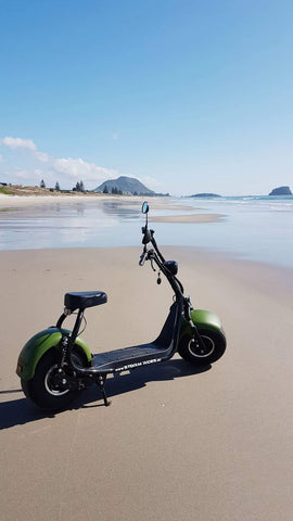 Electric Scooter Dealer Mount Maunganui - Beach Scooter Side View