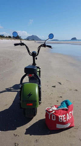 Electric Scooter Dealer Mount Maunganui - Beach Scooter Portrait