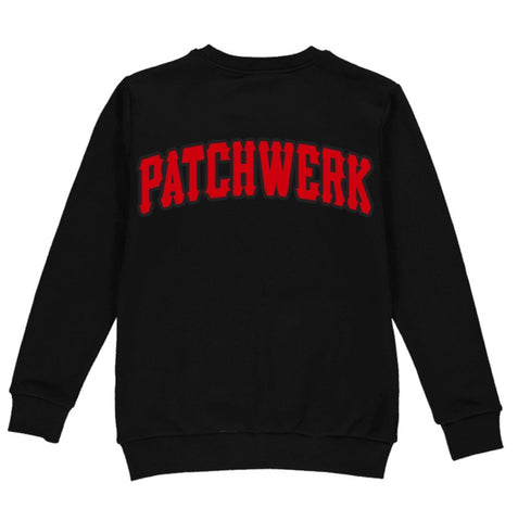 Patchwerk Premium Embroidered Sweatshirts (Red on Black)
