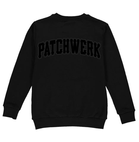 Patchwerk Premium Embroidered Sweatshirt (Black On Black)