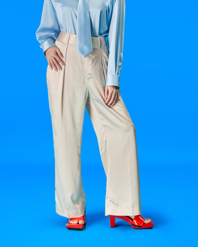 Satin Gaucho Pants (Cream)