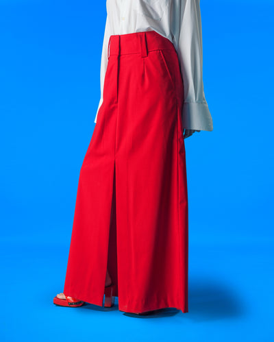 Dua Slit Skirt (Red)