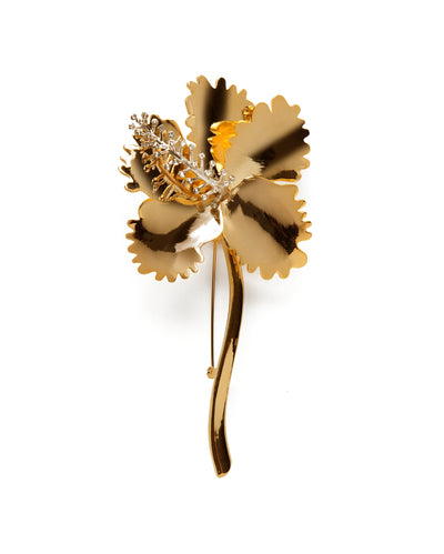 Hibiscus Brooch in 18k Gold