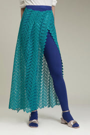Teal Lace Sarong Stocking