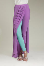 Purple Lycra Sarong Pants