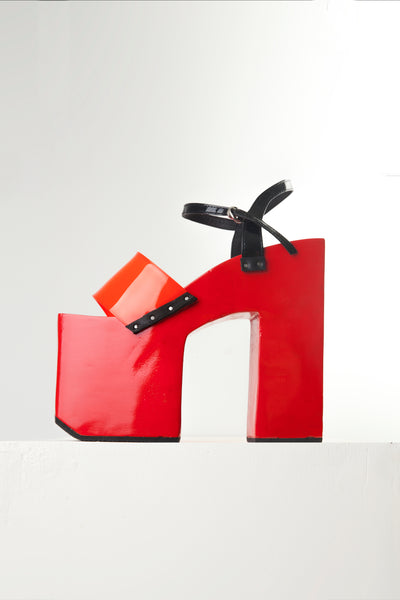 "RED 7"" TEROMPAH HEELS ($ 335)"