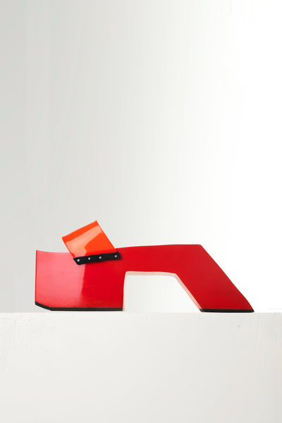 "RED 4"" TEROMPAH SLIDES ($ 190)"