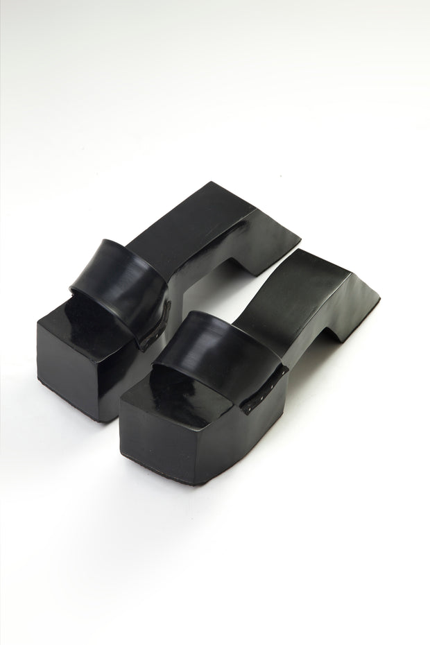 "BLACK 4"" TEROMPAH SLIDES ($ 190)"